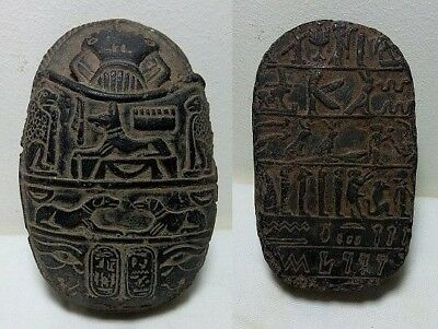 Rare Ancient Egyptian Antique Scarab 1456-1236 Bc
