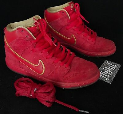 info for 3288b f1dde ... germany vtg nike sb dunk high chinese new year horse red cny yoth  pigeon supreme sz