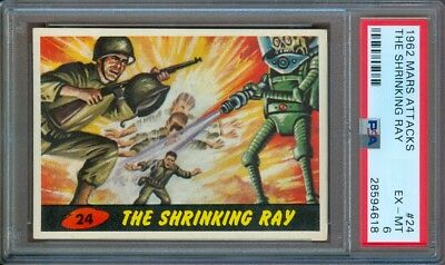 1962 Mars Attacks #24 The Shrinking Ray Psa 6