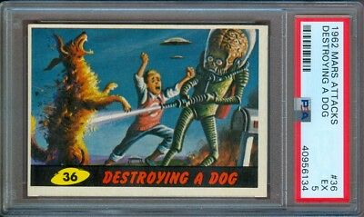 1962 Mars Attacks #36 Destroying A Dog Psa 5