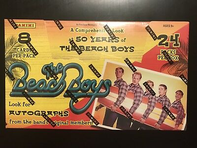 2013 Panini The Beach Boys 50 Years of Sealed Hobby Box Trading Cards 2 Relics