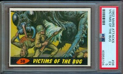 1962 Mars Attacks #38 Victims Of The Bug Psa 5