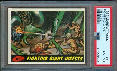 1962 Mars Attacks #45 Fighting Giant Insects Psa 6