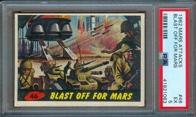 1962 Mars Attacks #46 Blast Off For Mars Psa 5
