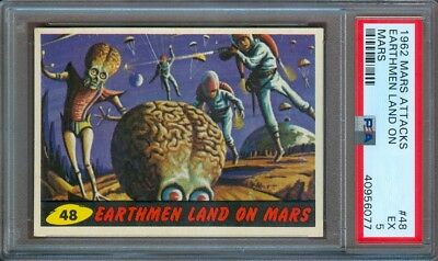 1962 Mars Attacks #48 Earthmen Land On Mars Psa 5