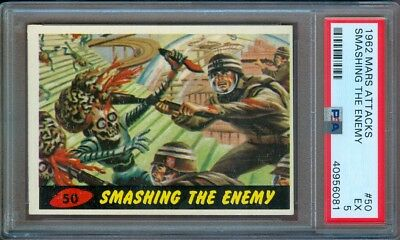 1962 Mars Attacks #50 Smashing The Enemy Psa 5