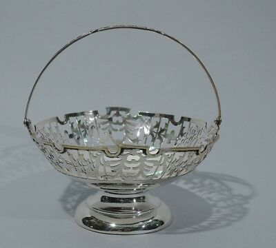 Export Basket  - China Asian Antique - Footed & Openwork - Chinese Silver
