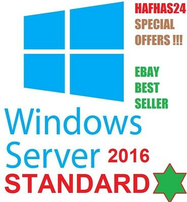 Windows Server 2016 STANDARD - Retail - Download Link & Product Key ✅✅ESD✅✅