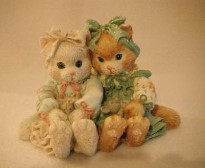 "Enesco Calico Kitten C26/387 ""We're A Purr-fect Pair"" Excellent Condition"