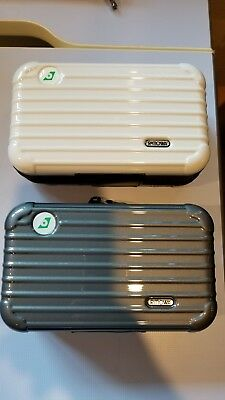 NEW - 2x Rimowa Amenity Kits -EVA Air Royal Laurel - Pearl White & Metallic Grey