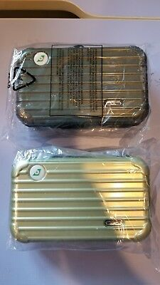 NEW - 2x Rimowa Amenity Kits -EVA Air Royal Laurel - Golden Green & Crystal Gree