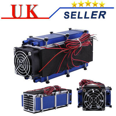 DIY Thermoelectric Peltier Refrigeration Cooler Fan Kit  Air Cooling System 12V