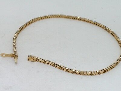 Tennis Armband 585 Gold 14Kt Gold 129 Brillanten total 0,65ct TW VS