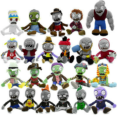 13cm-35cm Plants vs Zombies Figures Plush Baby Staff Toy Stuffed Soft Doll