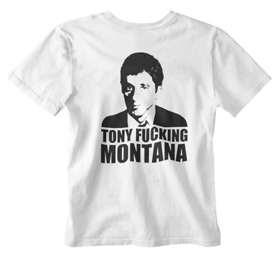 c0ef1026068 Tony Montana T-Shirt Scar face Retro Movie Film Drug Lord Tee Cocaine Al  Pacino