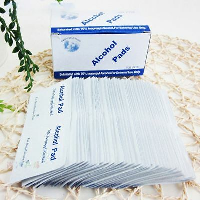 Portable Alcohol Swabs Pads Emergency Antiseptic Medical Tool 100pcs Wipes