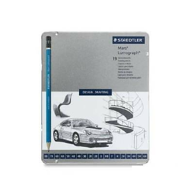 STAEDTLER MARS LUMOGRAPH 100 Design Drafting Sketching Drawing Set of 19 PENCILS
