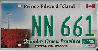 2008  PRINCE EDWARD ISLAND   Passenger Plate   NN 661   Excellent  Condition