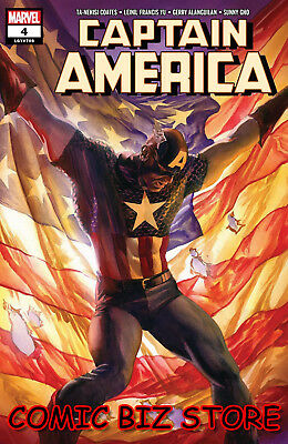 Captain America #4 (2018) 1St Print Alex Ross Main Cover Bagged & Boarded Marvel