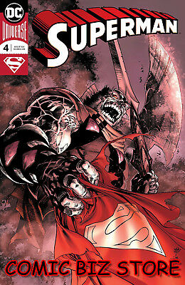 Superman #4 (2018) 1St Printing Reis & Predo Foil Cover Bagged & Boarded Dc Uni