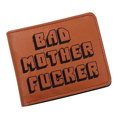 NEW Brown Embroidered Pulp Fiction BMF PU Leather Wallet Fan Movie High Quality