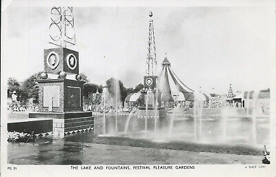 GB 1951 Festival of Britain Tuck PPC of The Lake & Fountains - Unused