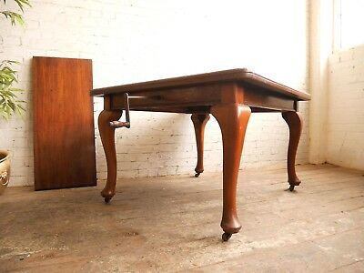 Antique Victorian Edwardian Mahogany Extending Wind Out Dining Kitchen Table