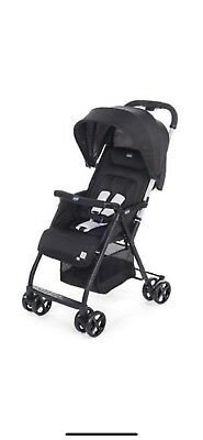 Chicco Ohlala Lightweight Foldable Baby Pushchair Pram Stroller-in BLACK