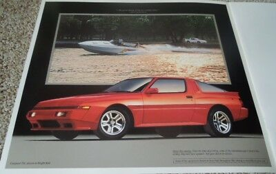 1989 Chrysler Conquest TSi Large Deluxe Sales Brochure