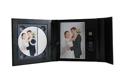Black USB case presentation box DVD/CD case, box. 2D. Wedding, Christening