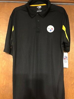 13f93db83 MEN S NFL PITTSBURGH Steelers Tx3 Cool Wicking Screen Print Polo ...