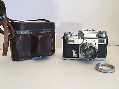 Zeiss Ikon Contax III (544/24) c1936-42.  Shutter tapes are broken. AS IS