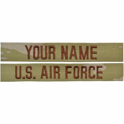 2 Piece Custom Air Force Name Tape Set - SEW ON - OCP/Scorpion