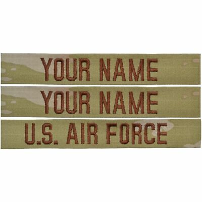3 Piece Custom Air Force Name Tape Set - SEW ON - OCP/Scorpion