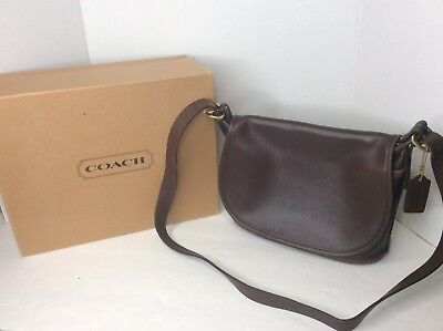 0bff27f03b9e COACH 4150 Soho Fletcher Brown Leather Crossbody Messenger Purse Handbag  Vintage
