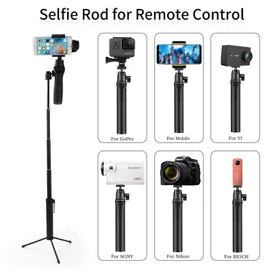 Selfie Stick Extender Rod with Tripod Mount Fit for GoPro Hero Sony 4K HDR ect