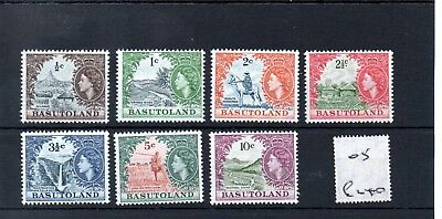 Basutoland - (05) - 1961/63 - Definitives - selection to 10c - mint - SG cat £6