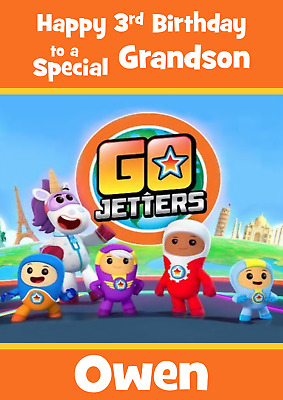 Go Jetters Personalised A5 Birthday Card Son Daughter Niece Nephew Name Age