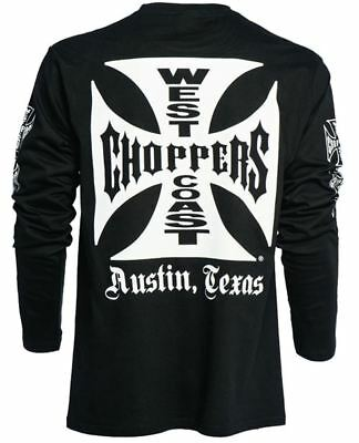 Maltese Cross Official West Coast Choppers WCC Long Sleeve T-Shirt (Black)