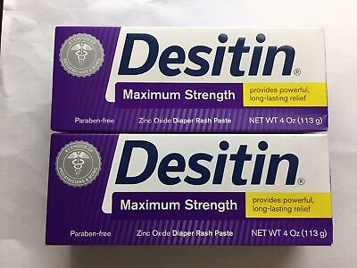 Desitin Maximum Strength Baby Diaper Rash Paste 4oz-2 Pack Exp 05/20