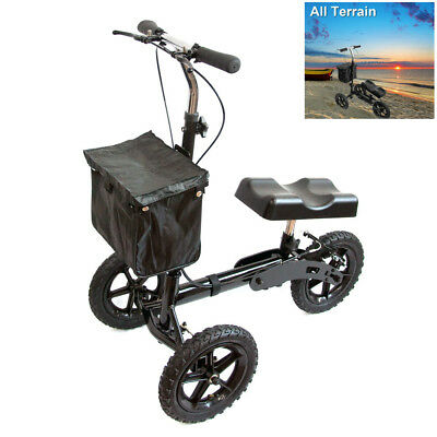 All Terrain KneeRover Steerable Knee Scooter Knee Walker Heavy Duty Crutches