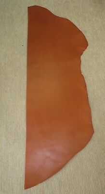 """TAN VEG TAN LEATHER PIECE - 2.5mm THICK - 53"""" X 14"""" - OLD STOCK"""