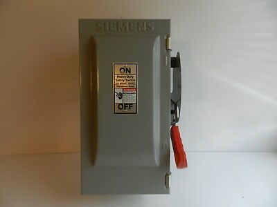 70 SIEMENS HF361R 30A 600V SAFETY DISCONNECT FUSIBLE HEAVY DUTY SWITCH 3R