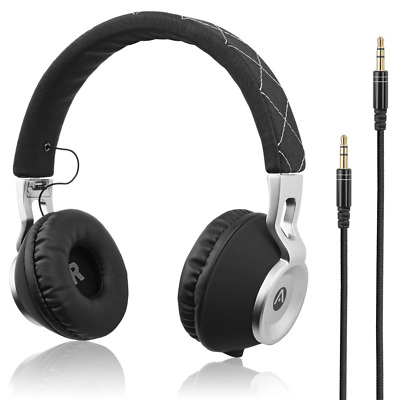Audiomate High Bass Wired Over-Ear Headphones Foldable and Portable Headset NEW