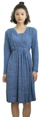 Maternit/Nursing/Breastfeeding Fine Knit Autumn/winter Dress,size 10-14
