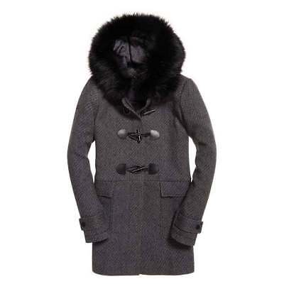 Superdry Brooklyn Duffle Coat Grey Tweed , Abrigos y parkas Superdry , moda