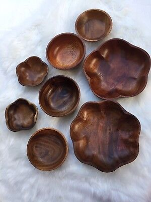 Lot 8 New Wooden Cups Salad Bowls Kitchen Made from Benquet, Philippines Home