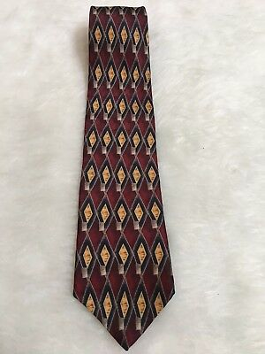 Cocktail Collection 100% Silk Vodka Tonic Maroon Blue Brown Necktie Tie