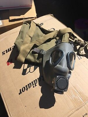Gas Mask And Pouch