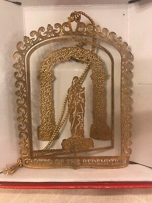 Vintage Nation's Treasures State Brass Iowa Grotto of the Redemption Ornament